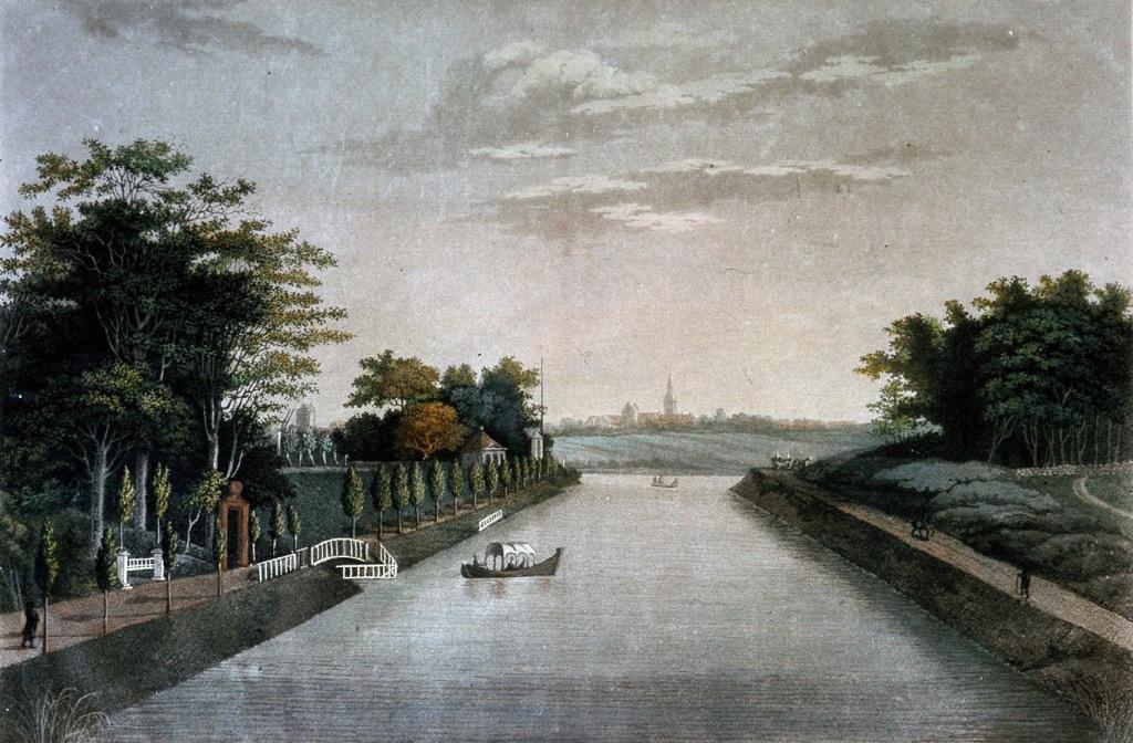 Maleri af H.A. Grosch: Odense Kanal