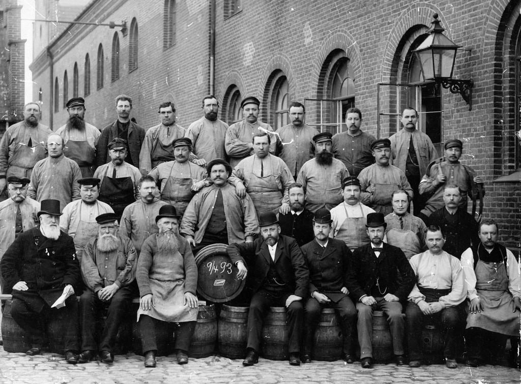 Medarbejdere på Bryggeriet Albani 1893