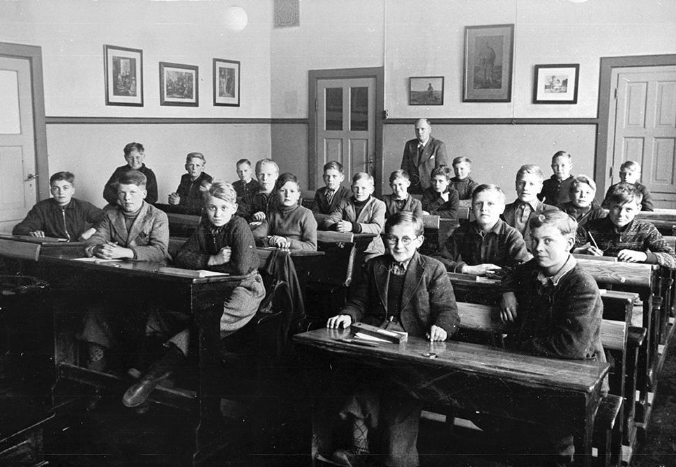 7.b på Jernbanegade Skole 1942