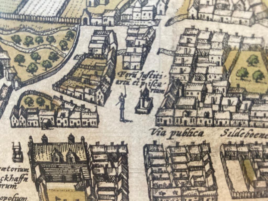 Udsnit af Braunius' kort med byens kag.